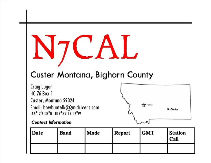 The N7CAL QSL Card!